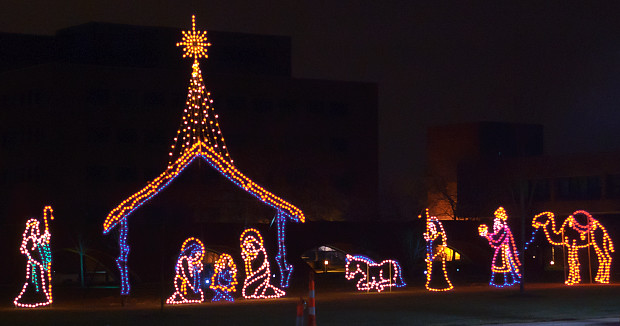 Saint Louis University, in Saint Louis, Missouri, USA - nativity scene