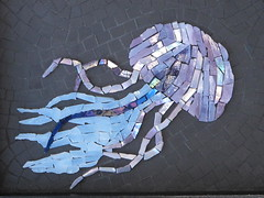 In the Deep II (Ginny Sher) Tags: ocean art mosaic stainedglass sealife squid octopus