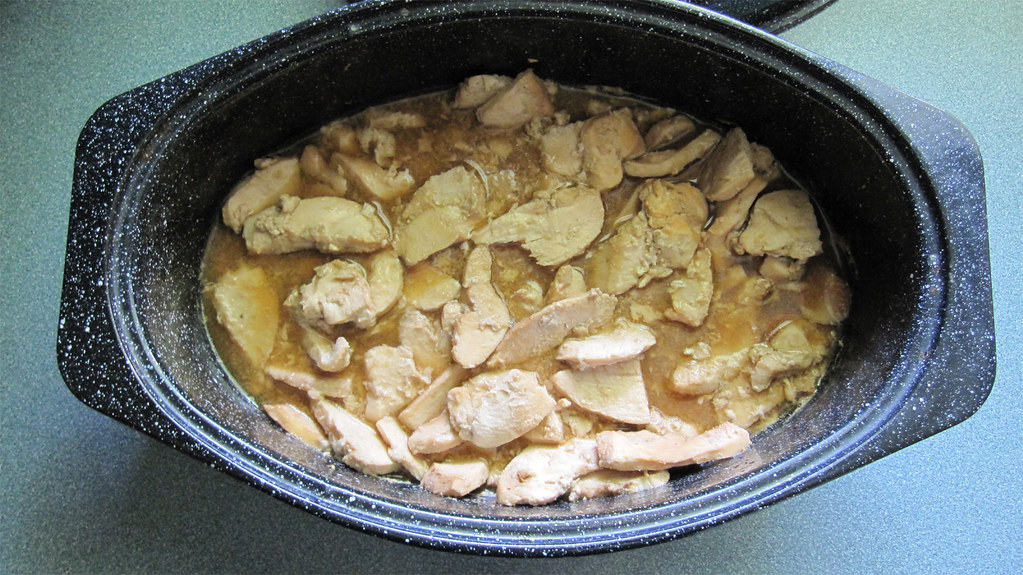 Solar cooked ginger-teriyaki chicken