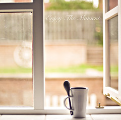 The Little Things... (azyalg { Little Twinkles Photography }) Tags: morning light cup window kitchen coffee naturallight az windowsill aziza d700 imagesofmydailylife azylag excusethedirtywindowp