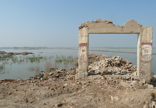 Remains of a school destroyed by flooding, near Jacobabad by DFID - UK Department for International Development, on Flickr