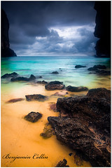 "Black sky "" Thailande Phi phi islands"" (Ben 5D MKII) Tags: ocean voyage longexposure travel blue light sunset sea summer vacation sky orange holiday color art beach nature clouds canon landscape geotagged island photo asia long exposure flickr phiphi picture compo benjamin collin thailande nohdr canoneos5dmarkii"