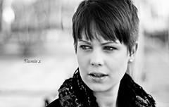 Yasmin #1 Black & White Signature version (Paul Johnson Photography) Tags: portrait blackandwhite girl ngc chester rosepetal