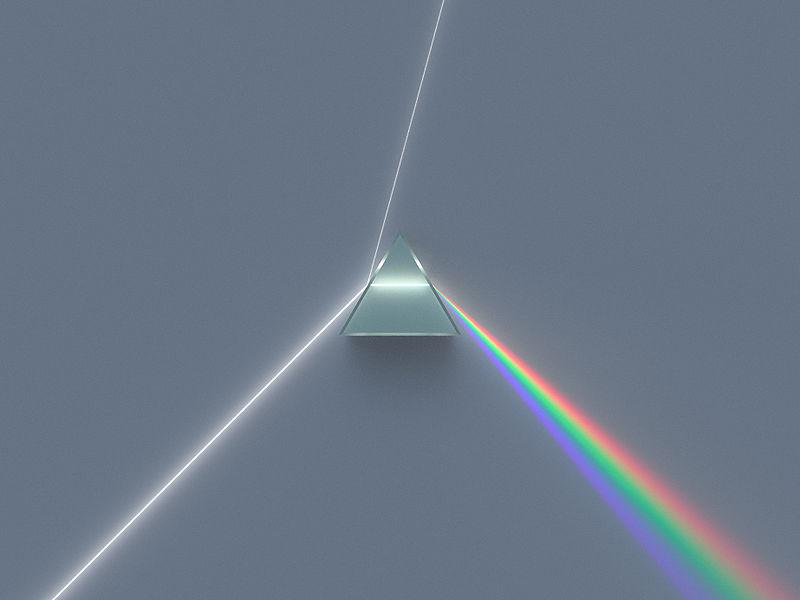 Dispersión de la luz blanca
