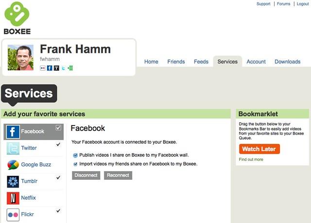 Frank Hamm auf Boxee