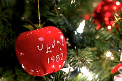 1982 Jerry Apple Ornament (JD Hancock) Tags: christmas favorite green apple photo 1982 image picture christmastree cc ornament btp nogeo jdhancock