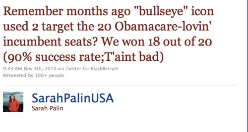 palin - bullseye