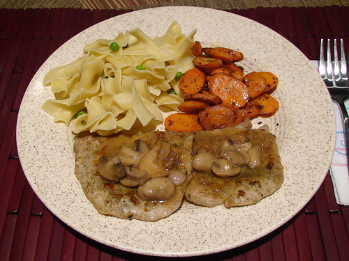 1/9/11 pork paillard with mushroom gravy