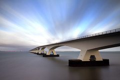 Storm (Kees Smans) Tags: bridge waterscape daytimelongexposure zeelandbridge bwnd110 keessmans wwwkeessmanscom gettyimagesbeneluxq2