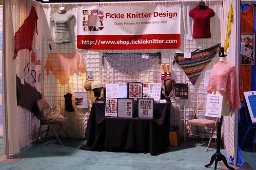 Fickle Knitter Winter 2011 TNNA Booth