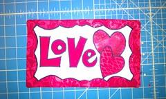 Mug Rug - Valentine/Love
