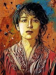 C215 - Portrait of Camille Claudel (from 1884) (C215) Tags: streetart art french graffiti stencil christian pochoir masacara szablon c215 schablon gumy piantillas