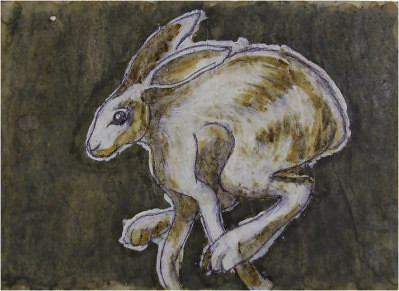 running hare by Paul Cummings