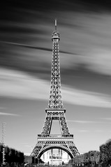 Filter Frenzy! / Tour Eiffel / Paris (zzapback) Tags: city sky bw white motion black paris france architecture photography 50mm mono rotterdam nikon long exposure fotografie f14 eiffeltower nederland filter le enjoy toureiffel champdemars nd gradient medium frankrijk polarizer grad z