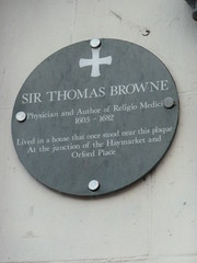 Photo of Thomas Browne grey plaque