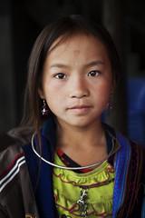 Beauty (chatursunil) Tags: blue portrait black girl beautiful beauty pretty tribal vietnam sapa hmong