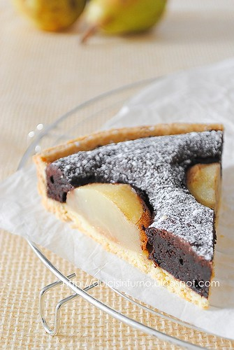 Crostata al Ciocolato e Pere-Chocolate and Pear Tart