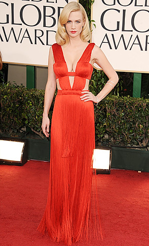 January Jones Golden Globes 2011