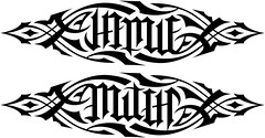 """Jamie"" & ""Mitch"" Ambigram v.1"