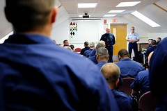 Coast Guard senior leaders visit station