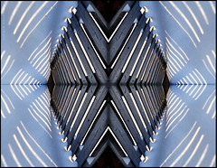 fun fence pattern (marianna a.) Tags: wood winter light white snow black geometric collage fence dark mirror boards pattern image reflected marianna flipped flopped armata olympussp570uz mariannaarmata pepetition