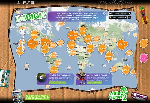 LittleBigPlanet Launch Week Fun Reviews And The LittleBigMap - Little big world map