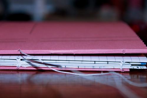 mein erstes selbst gebundenes Notizbuch