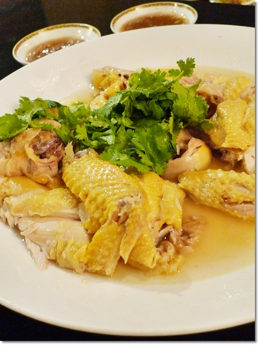Poached Marinated Farm Chicken with Chinese Wine