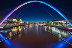 Gateshead Millenium Bridge (petecarr) Tags: architecture newcastle dusk bridges gateshead hdr angelofthenorth