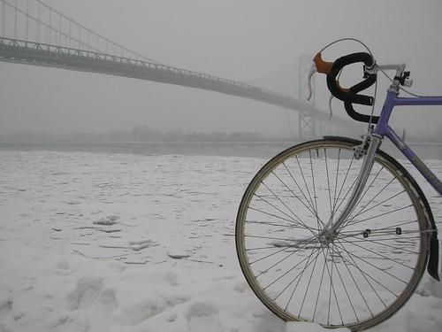 Winter Riding in Windsor - Under the Ambassador Bridge