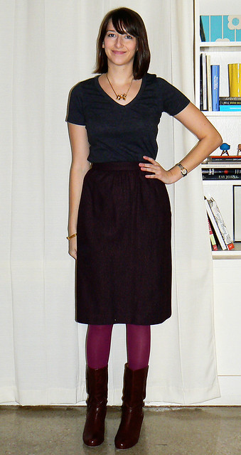 Maroon Skirt Before