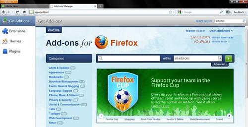 Novo Mozilla FireFox 4 - Extensões