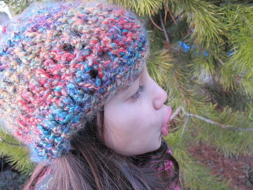 Fuzzy Rainbow Hat #2