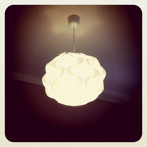 IKEA light for the new playroom