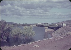 Ord River Diversion Dam showing Control Tower (Kununurra Historical Society Archive & Museum) Tags: denmark australia danish cnc westernaustralia khs controltower 1963 ohia oria kununurra khia swek ordriverscheme christianinielsen ordriverirrigationarea cyrilion beefroads nearkununurra ordriverproject shireofwyndhameastkimberley kununurrapharmacy christianinielsenclough hylik hylitk cyrilioncollection danishcontractor archivelibrarymuseum 2011digitisationprogram 1963circaordriverdiversiondamnearcompletion