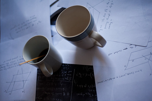 Coffee and math (DaveMosher) Tags: coffee geometry mathematics calculus chalkboard mathematicians trigonometry