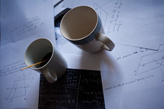Coffee and math (DaveMosher) Tags: coffee geometry mathematics calculus chalkboard mathematicians trigonometry