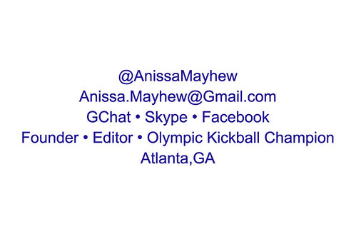 Anissa Mayhew business card - back