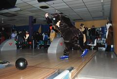 An otter bowling