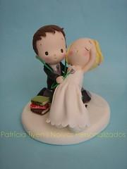Fofinhos (Patricia Tiyemi ^.^) Tags: biscuit fofinhos noivinhos porcelanafria weddingcaketoppers toposdebolo