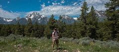 Me - Hermitage Point - Colter Bay - Grand Teton National Park - Wyoming - 21 June 2016 (goatlockerguns) Tags: mountain view hermitage point colter bay grand teton national park wyoming usa unitedstatesofamerica west western nature natural nationalpark lake pond forest trees tree trail