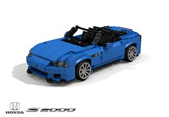 Honda S2000 Roadster (lego911) Tags: honda s2000 ssm roadster convertible 1999 1990s sports sportcar vtec auto car moc model miniland lego lego911 ldd render cad povray lugnuts challenge 107 saturdaymorningshownshine saturday morning show n shine japan japanese foitsop
