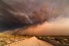 Imminent (doug drexler) Tags: 20140703 rokinon14mm28 arizona cactus clouds dirtroads duststorm haboob highway387 monsoon mountains powerlines saguaro thunderstorm