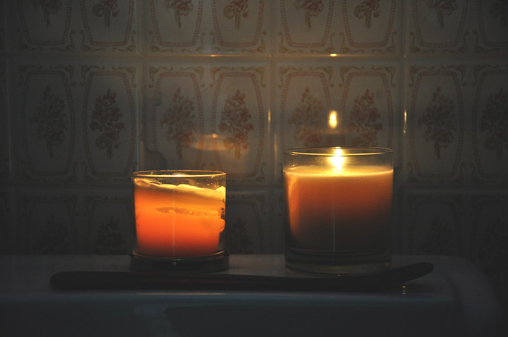 bathroom candles