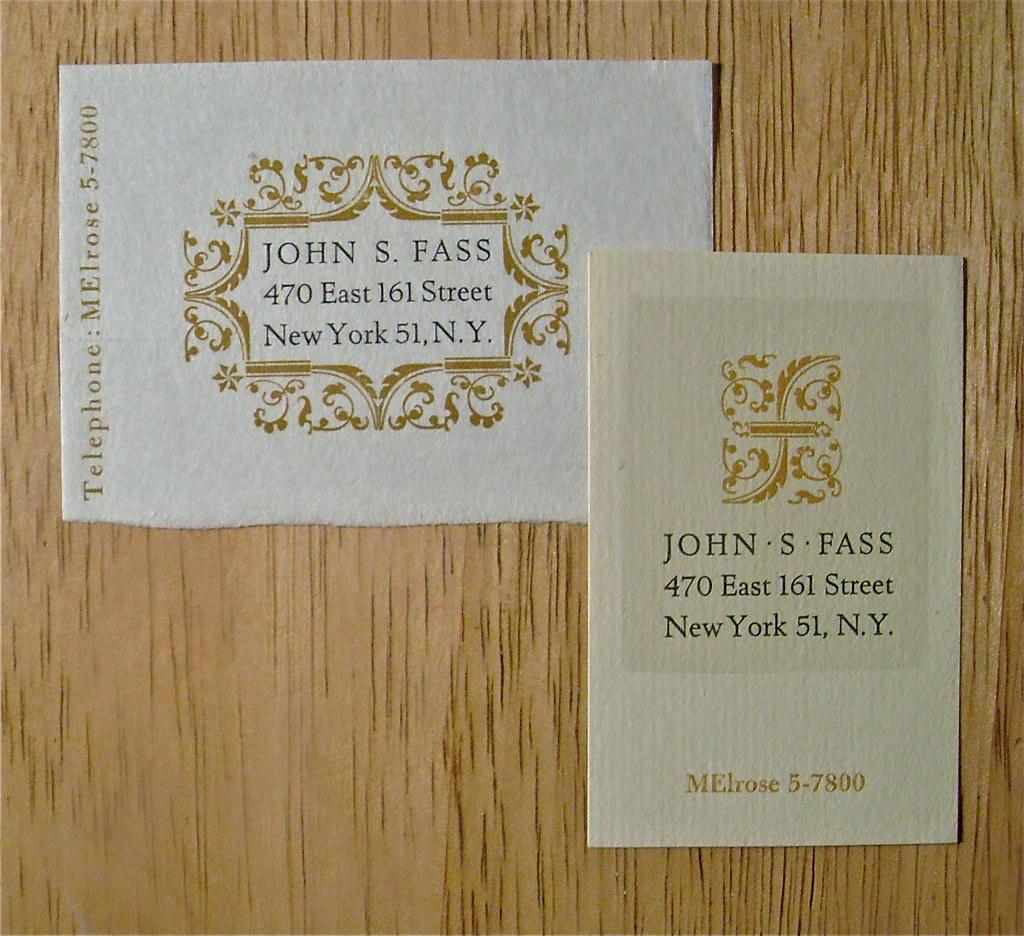 John S. Fass / Calling Cards