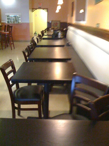 New tables and chairs