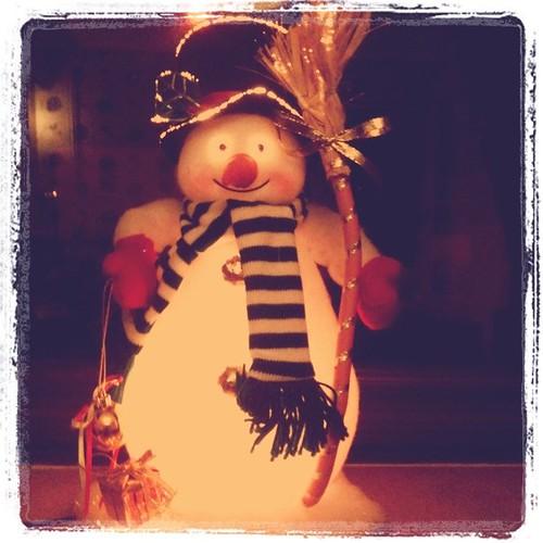 Fibre optic snowman