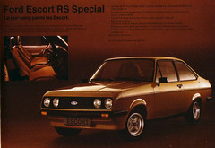 1980 Ford Escort RS2000 Special Brochure - Europe