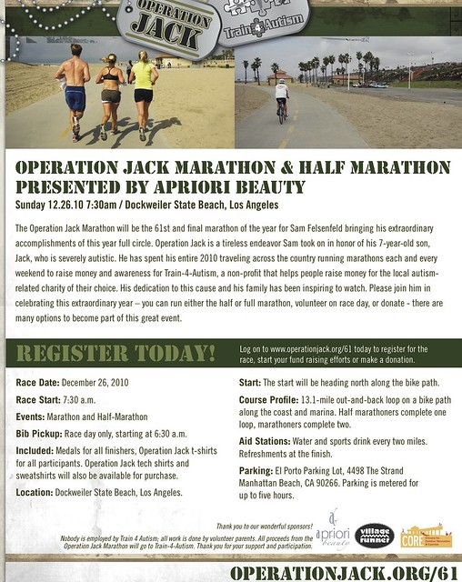 Operation Jack Marathon & Half Marathon presented by Apriori Beauty