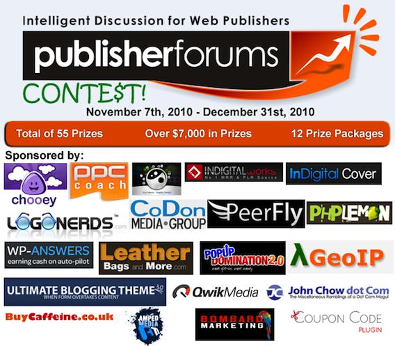 PublisherForums Contest